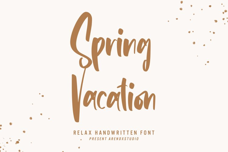 Spring Vacation - Relax Handwritten example image 1