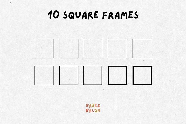 10 svg Squares, svg square Bundle, svg Square Frames, png