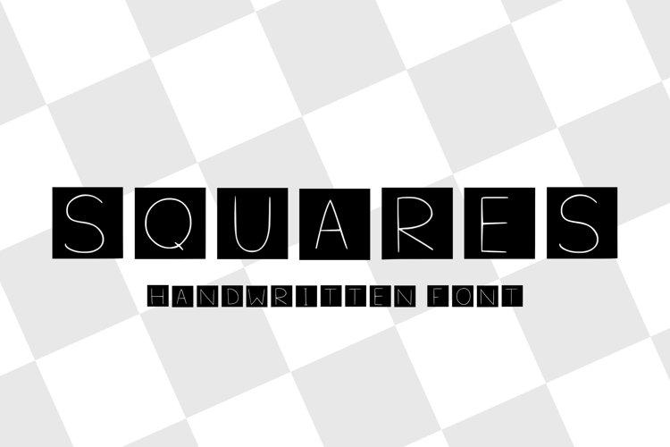 squares handwritten font