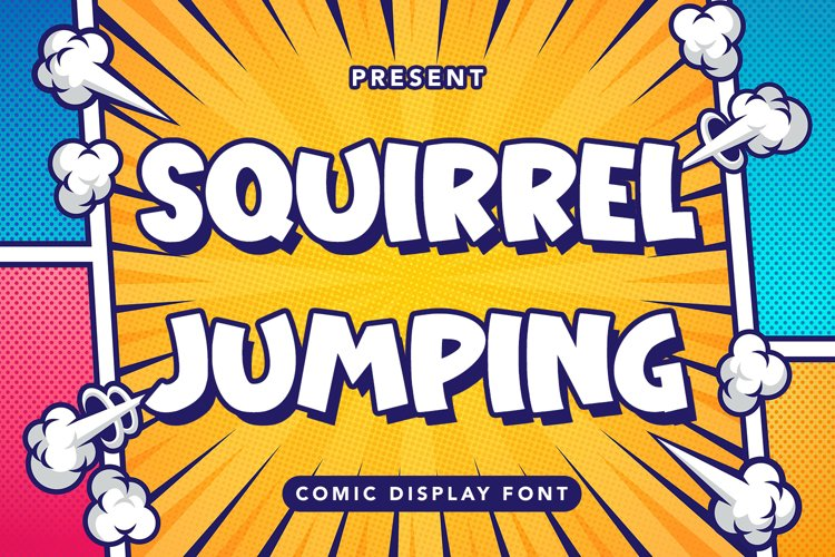 Squirre Jumping - Comic Display Font example image 1