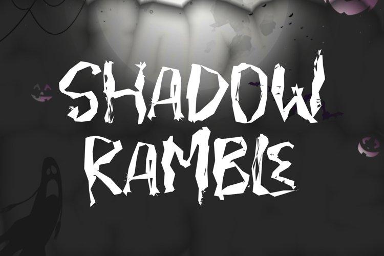 SHADOW RAMBLE - Halloween Font example image 1