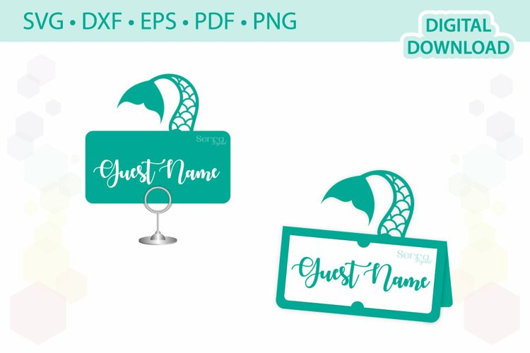 Mermaid Place card template .svg .dxf .eps .pdf .png