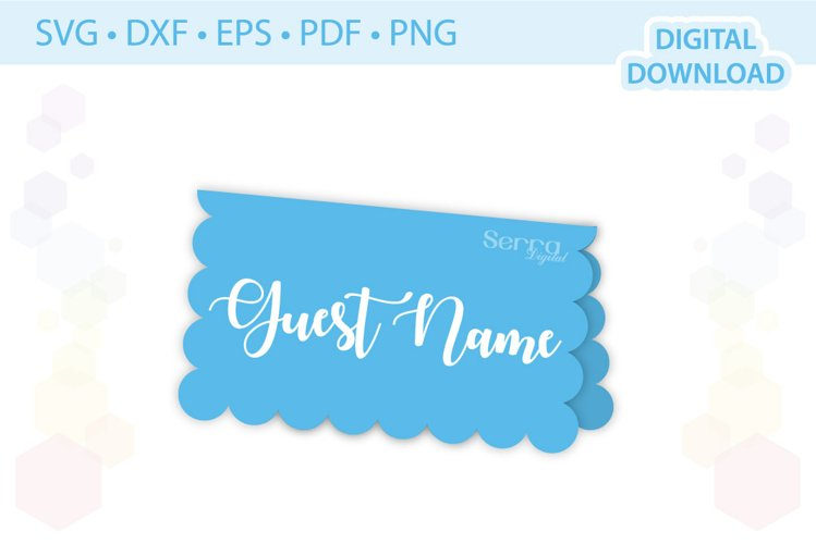 Scalloped Place card template .svg .dxf .eps .pdf .png