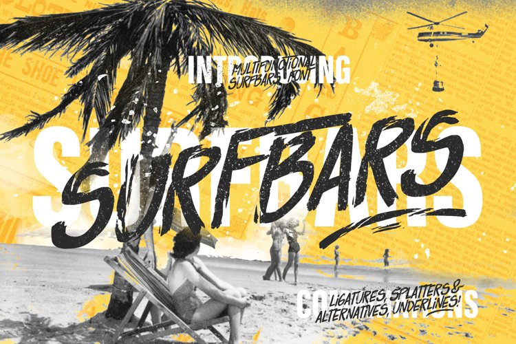 Surfbars Font example image 1