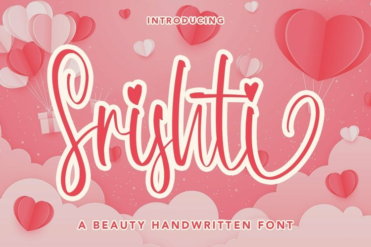 Web Font Srishti - A Beauty Handwritten Font example image 1