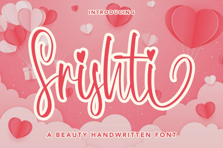 Srishti - A Beauty Handwritten Font example image 1