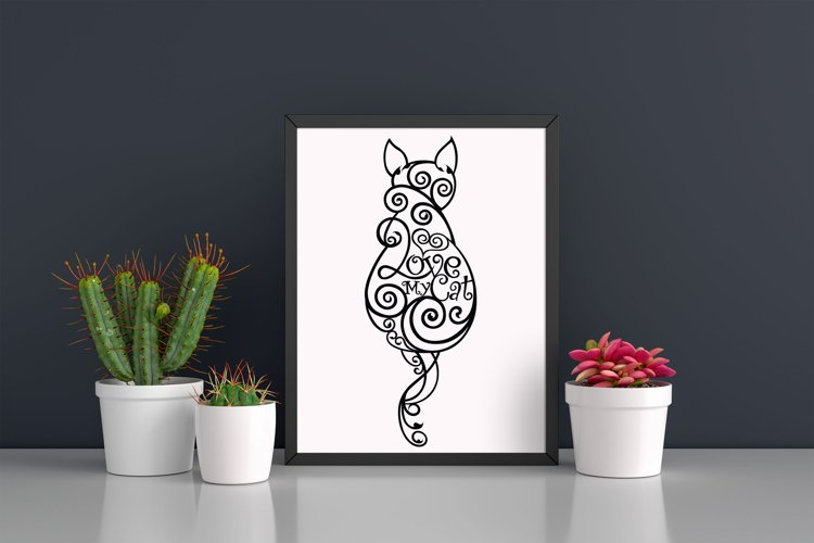 Love My Cat Printable Wall Art example image 1