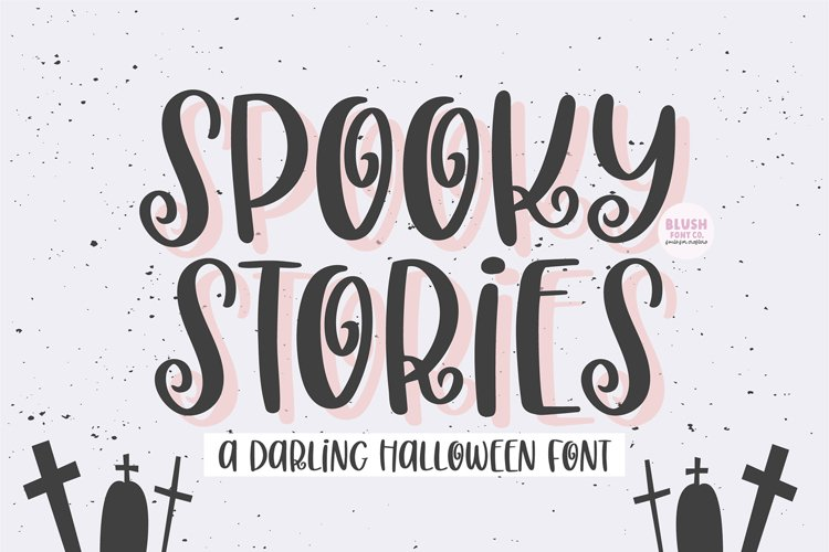 SPOOKY STORIES Cute Halloween Font example image 1