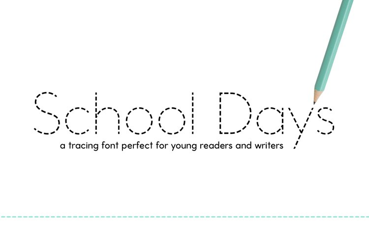 School Days Dash - Handwriting Practice Font example image 1