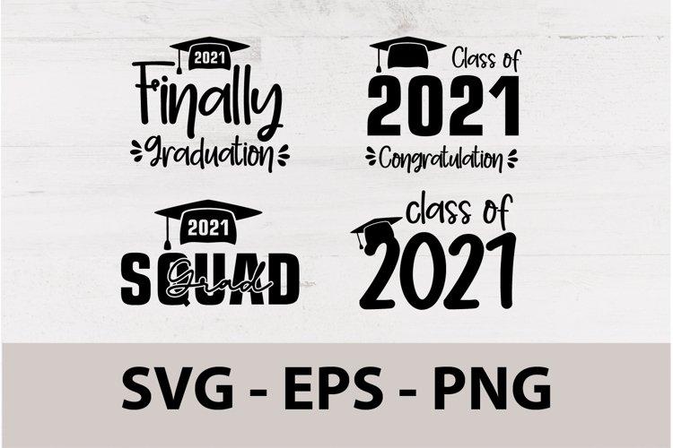 Grad Squad 2021 SVG, Graduation 2021 SVG, Class of 2021 SVG.