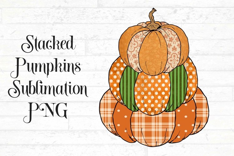 Stacked Pumpkin Sublimation