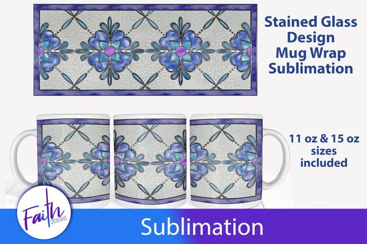 Stained Glass Mug Wrap Sublimation example image 1