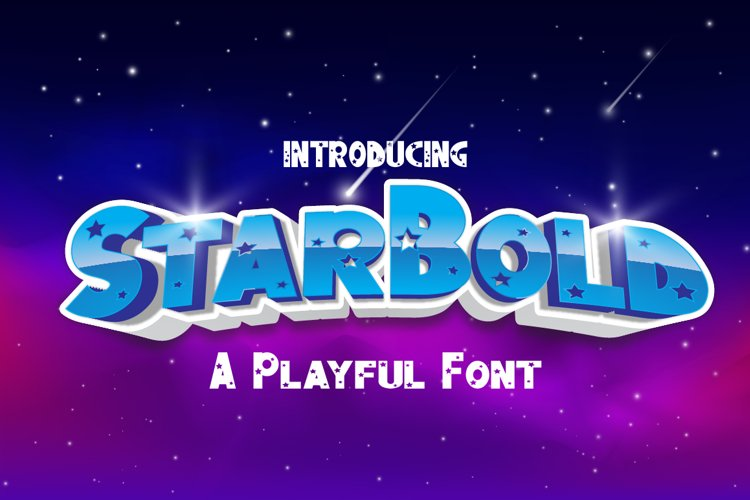 Star Bold a Playful font example image 1