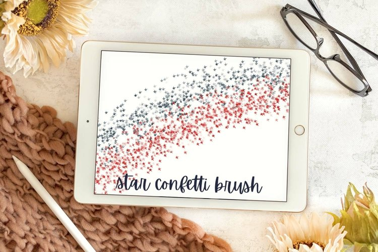 Star Confetti Brush - A Fun Stacked Star Brush For Procreate