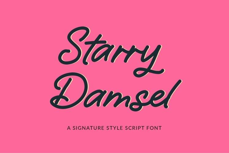 Web Font Starry Damsel - a signature script font example image 1