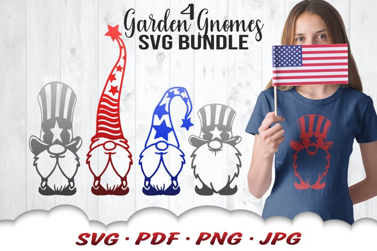 4th Of July Gnome SVG Cut Files Bundle example image 1