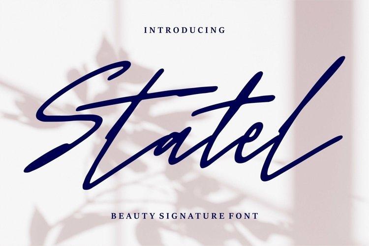 Web Font Statel - Beauty Signature Font example image 1