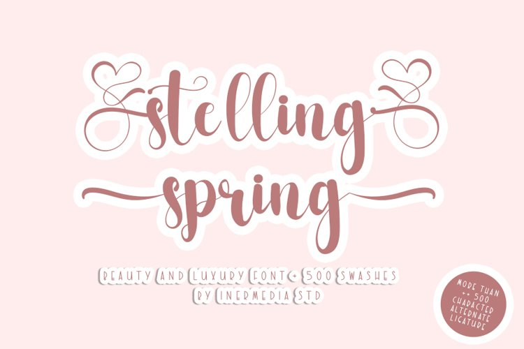 Stelling Spring - A Romantic Font example image 1