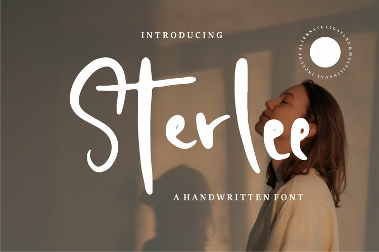 Sterlee - A Handwritten Font example image 1