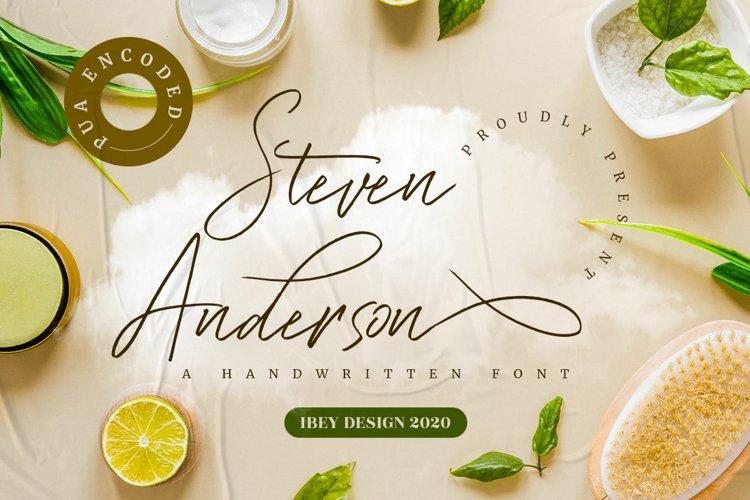 Steven Anderson - Signature Style Font