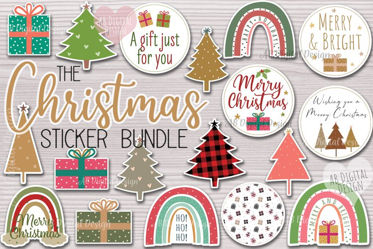 Christmas Sticker Bundle, Gift Tag & Packaging Stickers example image 1
