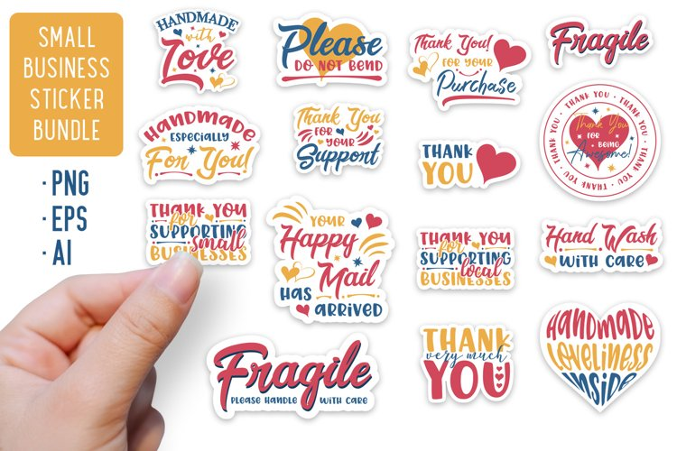 Small Business Stickers Bundle | 15 Packaging Stickers