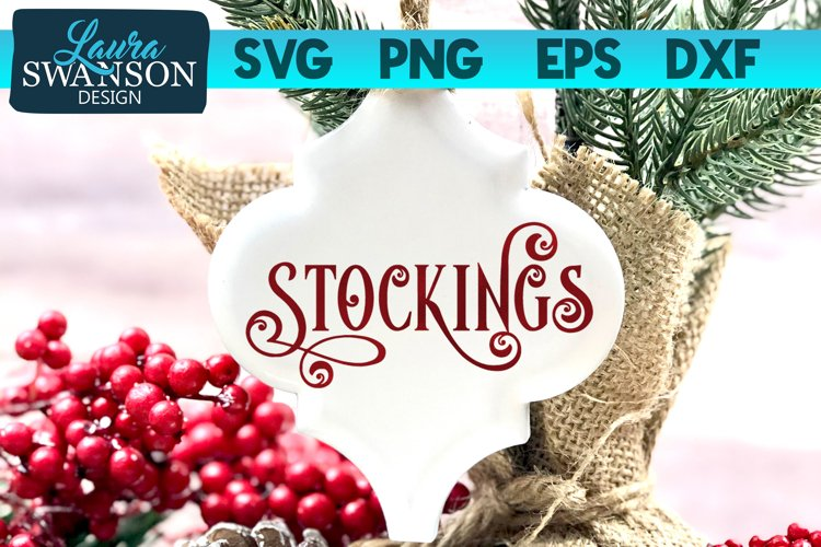 Stockings SVG Cut File | Christmas SVG Cut File example image 1