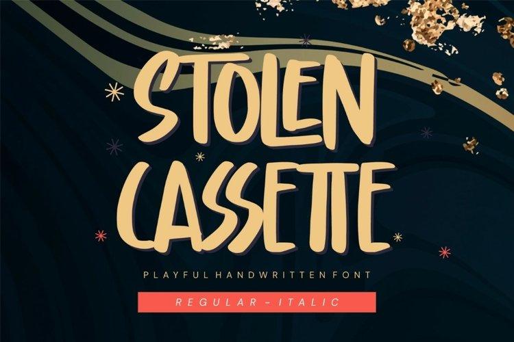 Stolen Cassette - Playful Display Font example image 1