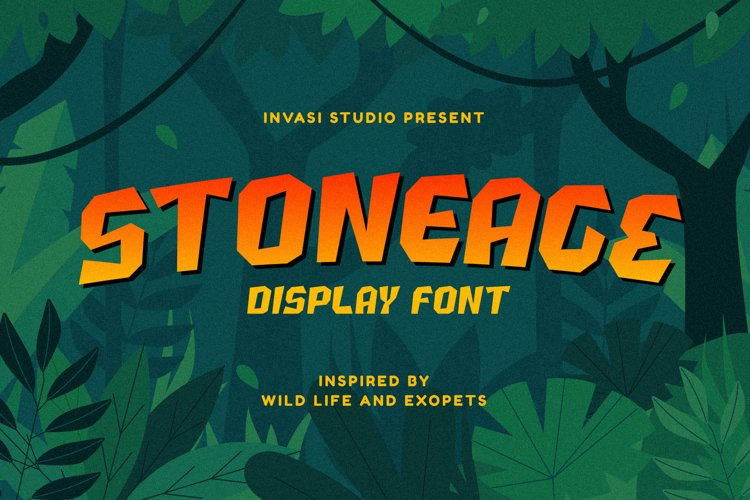 Stoneage | Display Font example image 1