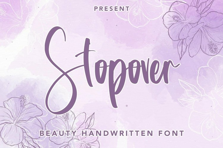 Web Font Stopover - Beauty Handwritten Font example image 1