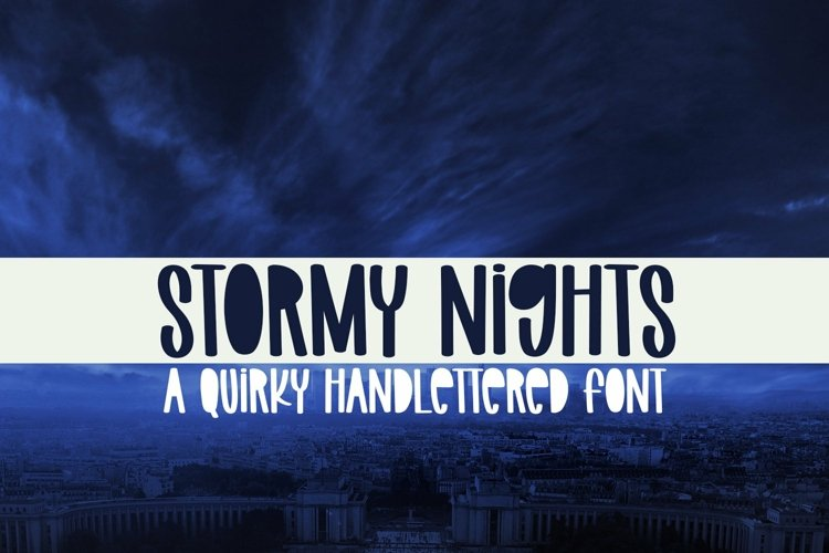 Web Font Stormy Nights - A Quirky Handlettered Font example image 1