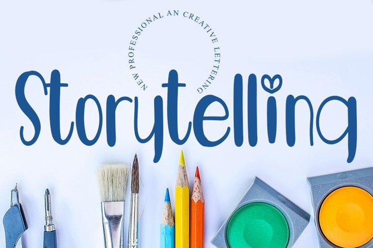 Storytelling - A Mondern Handwritten Font example image 1