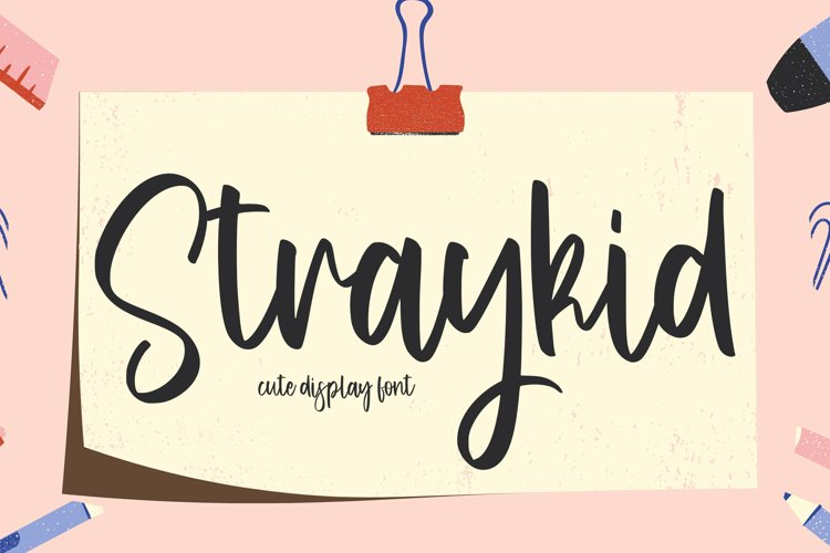 Straykid - Cute Display Font
