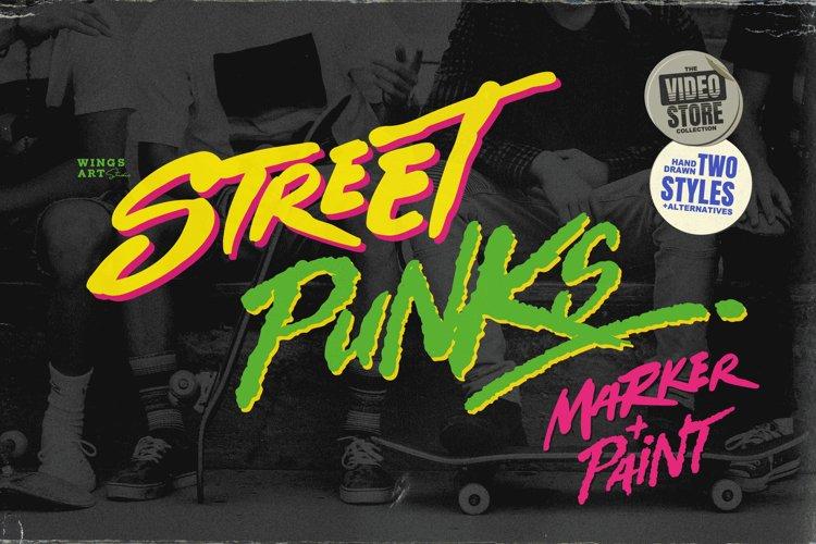 Street Punks: Graffiti Pen and Brush Font example image 1