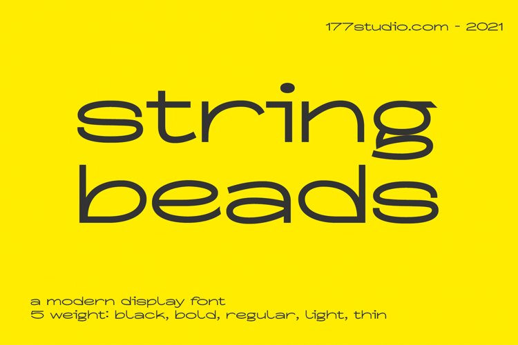 String Beads Font example image 1