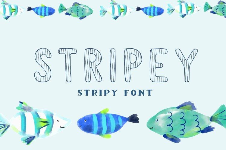 Stripey - display stripy font example image 1