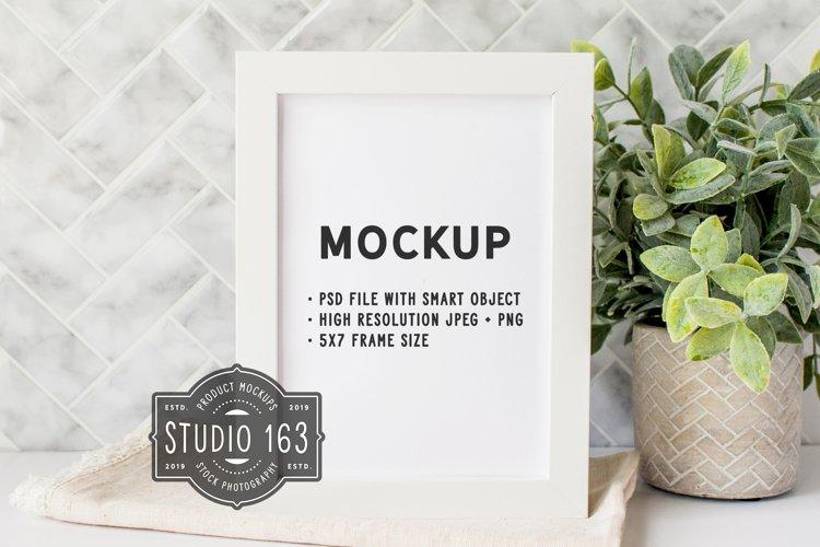 5x7 Frame Mockup, White Frame Mockup, PSD JPG