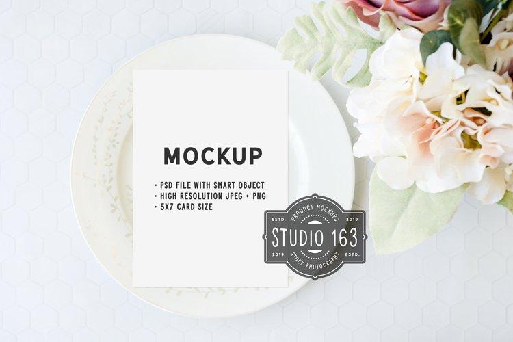 5x7 Card Mockup, White Card Mockup, Greeting Card Mockup example image 1
