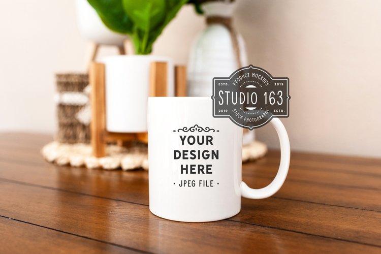 11 oz White Mug Mockup, Blank Mug, Coffee Cup Mockup, JPEG example image 1