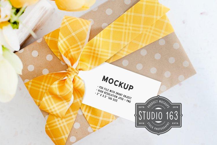 2x3.5 Tag Mockup | Gift Tag Mockup | PSD Smart Object example image 1