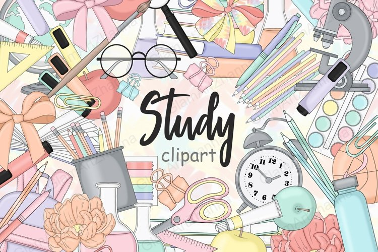 Back To School CLIPART Student Girls Planner Stickers - PNG