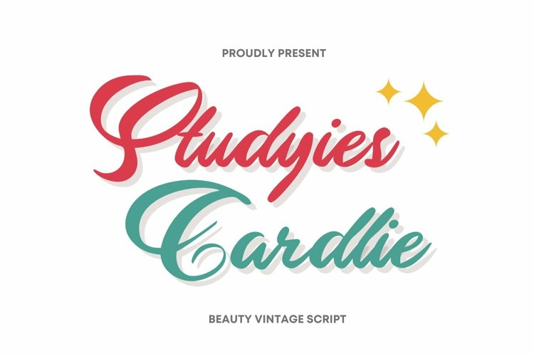 Web Font Studyies Cardlie Font example image 1
