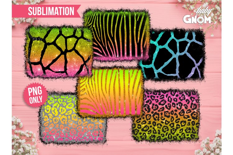 Colorful Animal Print with glitter, Sublimation Background