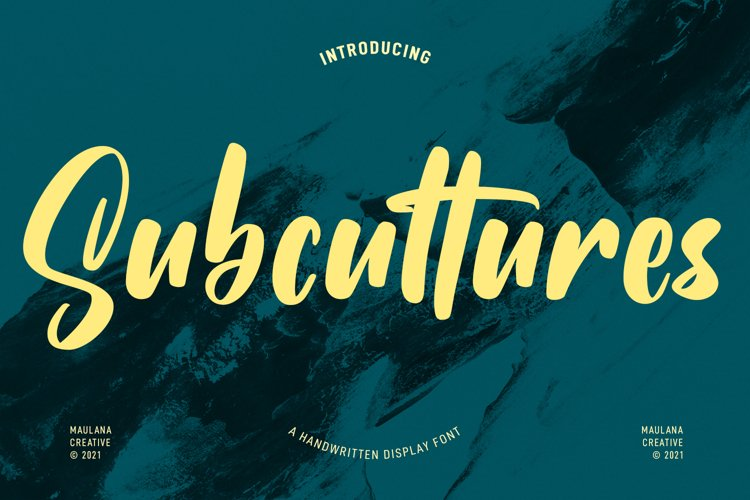 Subcultures Handwritten Display Font example image 1
