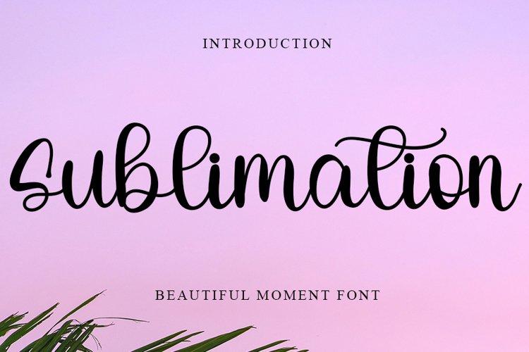 Sublimation   Beautiful Moment Font example image 1