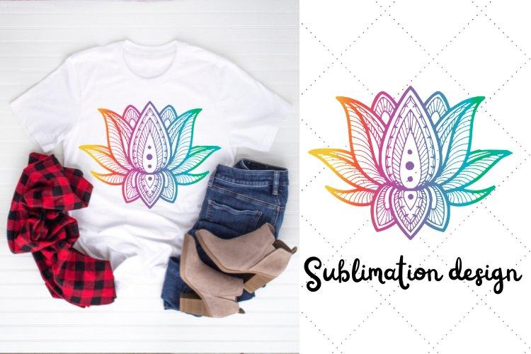 Lotus sublimation  sublimation design  flower sublimation