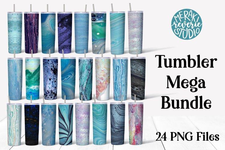 Sublimation Tumbler Mega Bundle - Colorful Fluid Art