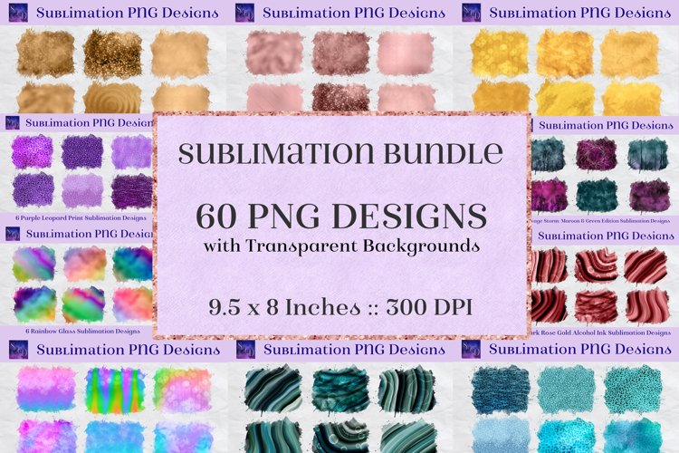 Sublimation Bundle - 60 Background Element Designs