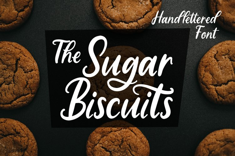 Sugar Biscuits - Handlettered Font example image 1