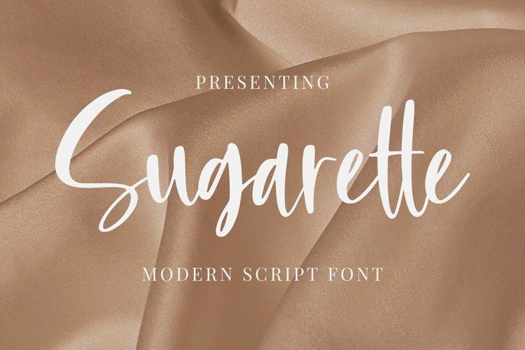 Web Font Sugarette example image 1